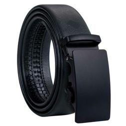 Mens Belts Luxury Automatic Buckles Black Real Leather Ratch
