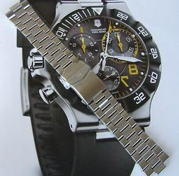 NEW SWISS ARMY Silver SS BRACELET/BAND/STRAP for SUMMIT XLT