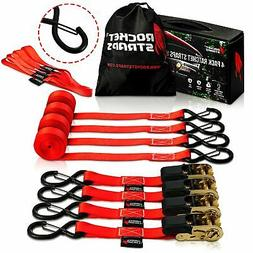 "Ratchet Straps 1"" x 17' - 1760lbs 4 pack"