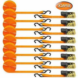 ratchet tie down strap 8 pack 15
