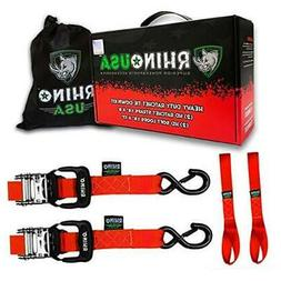 RHINO USA Ratchet Straps Motorcycle Tie Down Kit, 5,208 Brea