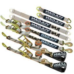 VULCAN Silver Series Axle & Ratchet Strap Tie Down Kit