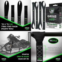 RHINO USA Soft Loop Motorcycle Tie Down Straps - Guaranteed