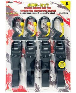 "Tie Down Ratchet Straps 1"" x 15' Soft Grip Hooks Erickson Tr"