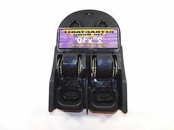 """Tie Down Straps Retractable Ratchet 10' x 1-7/8"""" 1000 lb. 2V"""